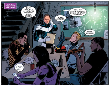 Superior Foes Team meeting