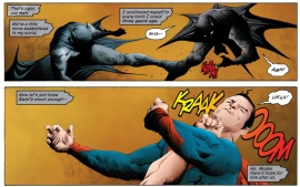 Bat and Supe fight