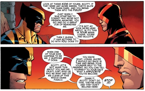 Bickering Logan and Wolvy