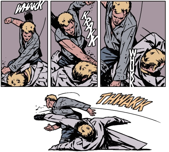 Hawkeye punching